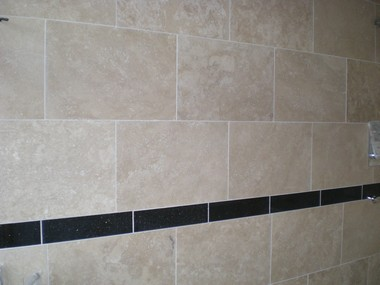 H & H Ceramic Tiling Services - Travertine Wall Tiling